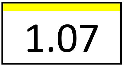 Türschild – 1.07 (mit Farbstreifen)