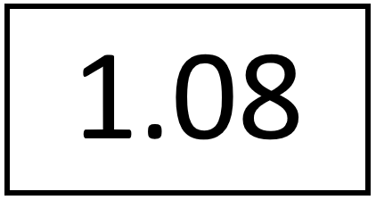 Türschild – 1.08 (ohne Farbstreifen)