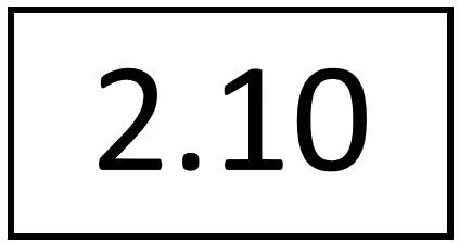 Türschild – 2.10 (ohne Farbstreifen)