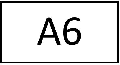Türschild – A6 (ohne Farbstreifen)