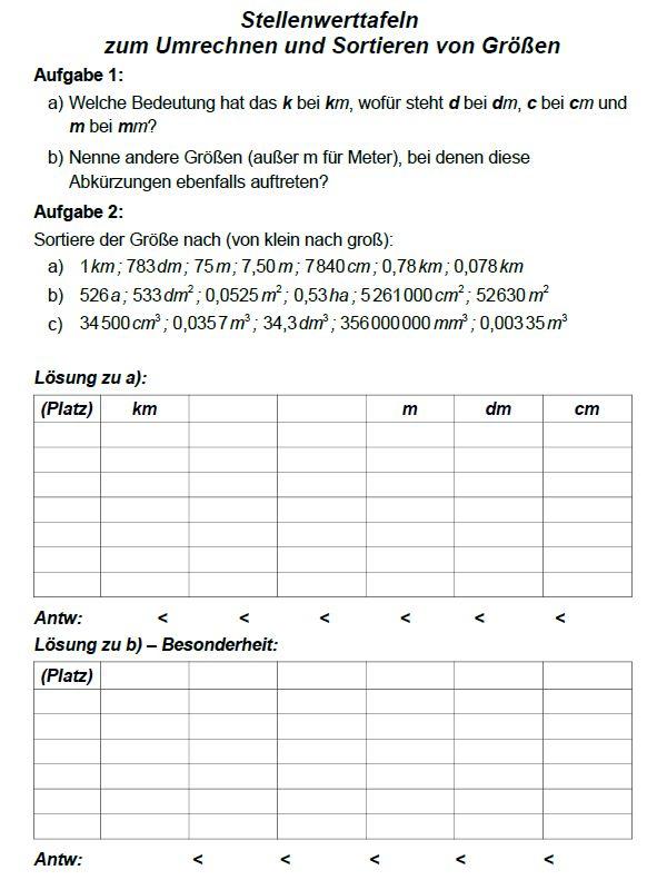 Umwandeln von Maßeinheiten — Landesbildungsserver Baden-Württemberg