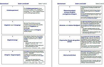 Auszug der Basiswissenskärtchen