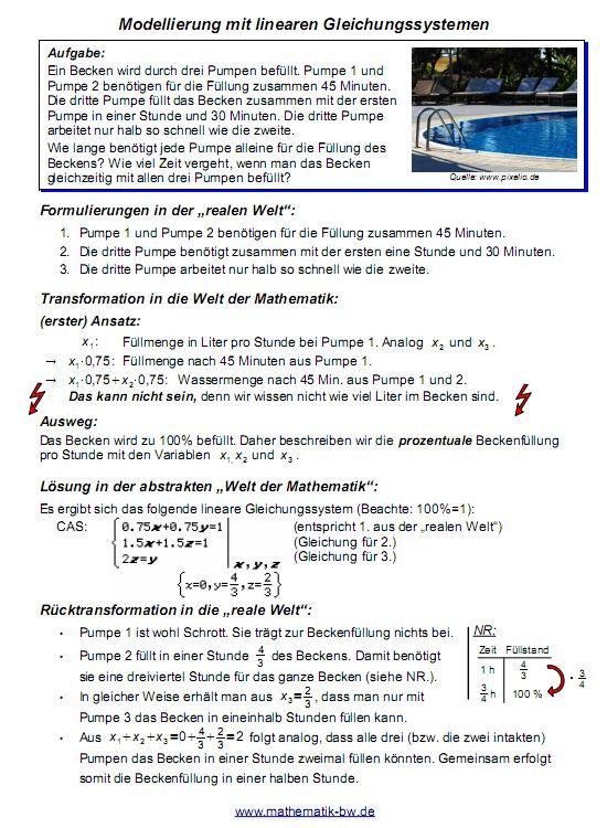 Gleichungssysteme — Landesbildungsserver Baden-Württemberg