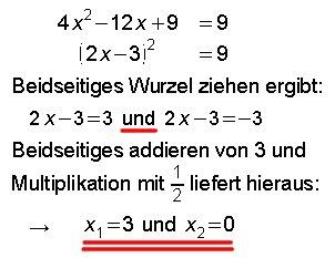 Quadratische Gleichungen mit Binom — Landesbildungsserver Baden ...