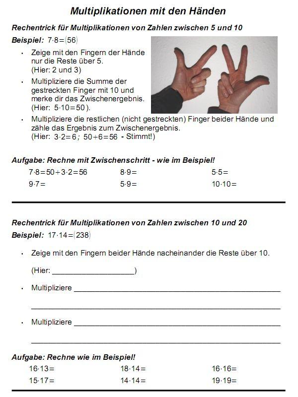 Kopfrechnen — Landesbildungsserver Baden-Württemberg