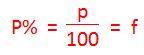 Der Prozentfaktor f