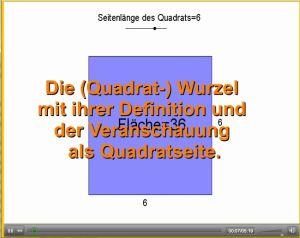 Lernvideo zur Definiton der (/Quadrat-) Wurzel