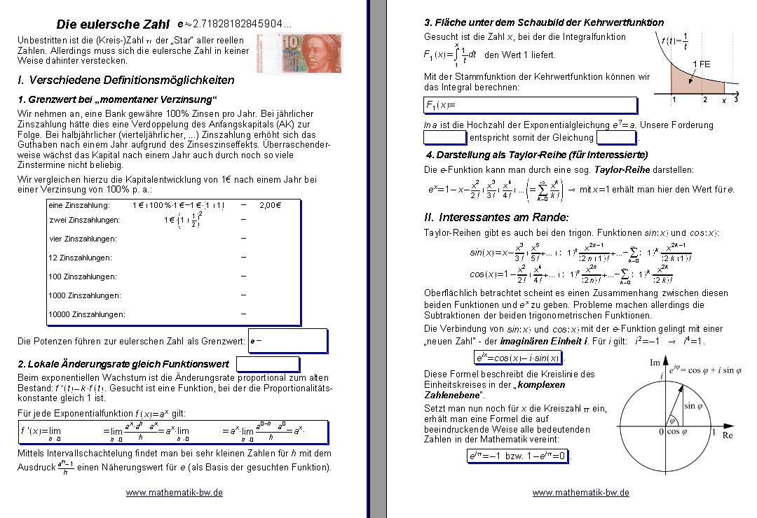 Wunderbar Exponentialgleichungen Ohne Logarithmen Arbeitsblatt ...