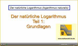 Eulersche Zahl, e-Funktion und natürlicher Logarithmus ...