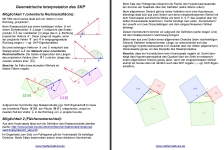Screenshot Geometrische Interpretation Skalarprodukt