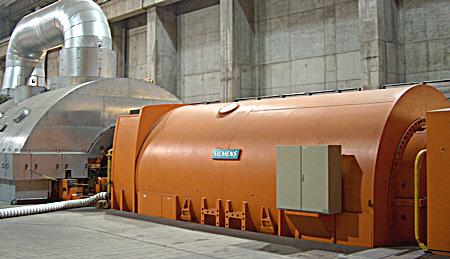Generator im Kraftwerk