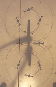 Blick von oben auf die Acrylglasplatte