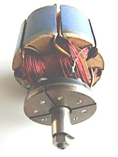 einfacher Trommelanker aus einem Experimentiermotor