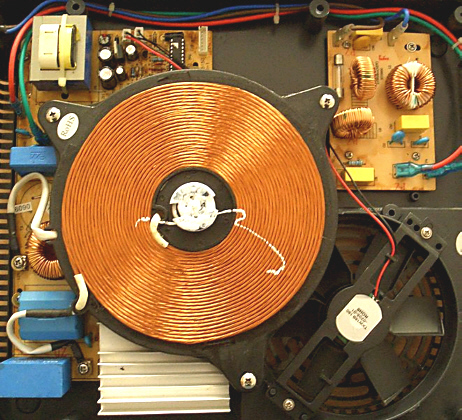 Bild einer Induktionskochplatte