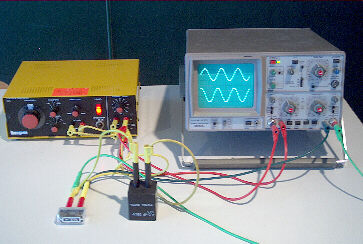 Versuchsaufbau: Kondensator im Wechselstromkreis