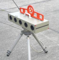 Geschwindigkeitsmessung mit Lichtschranke (Foto Dieter Müller)