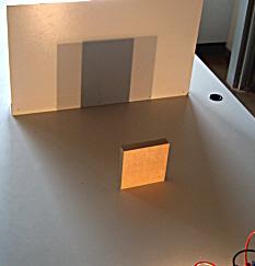 Schatten von zwei punktförmigen Lampen