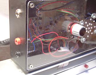 Box der Lichtschrankenelektronik