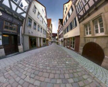 Fahrt durch Tübingen