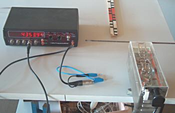 Sender und Frequenzzähler