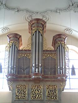 Eine barocke Orgel (Wallfahrtskirche Birenbach)