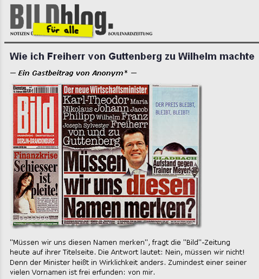 Screenshot aus Bild-Blog