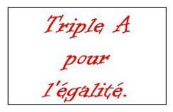Triple A pour l'égalité