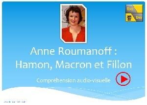Anne Roumanoff: Hamon, Macron et Fillon
