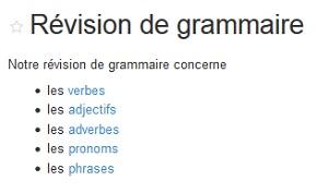 Screenshot der Unterseite eines Wikis aus dem Französisch-Unterricht