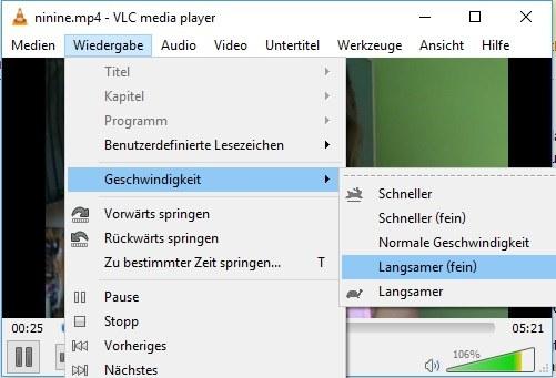 Screenshot VLC Player