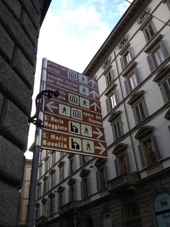 Indicazioni stradali a Firenze