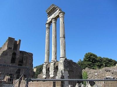 Der Tempel des Castor und Pollux