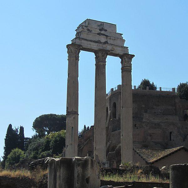 Der Tempel des Castor und Pollux auf dem Forum Romanum