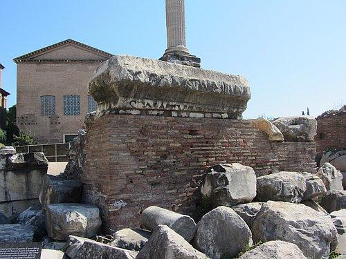 Die Curia auf dem Forum Romanum