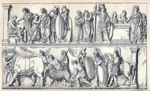römischer Census, aus dem Buch von Jäger, Geschichte der Römer