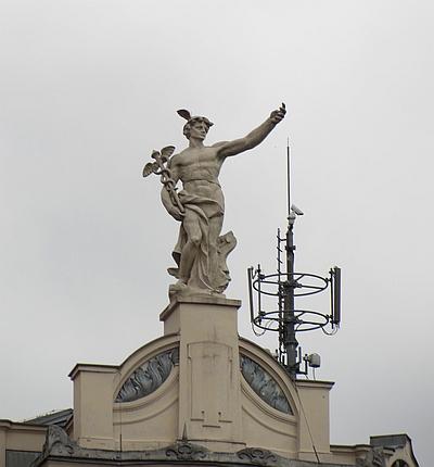 Hermesfigur in Ljubljana