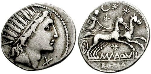 Römischer Denarius (Sol und luna)
