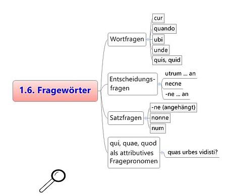 Fragewörter im Grundwortschatz Latein