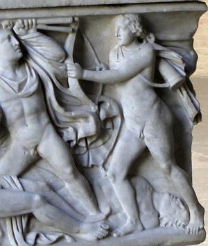 Apollo auf dem Niobidensarkophag in der Glyptothek München