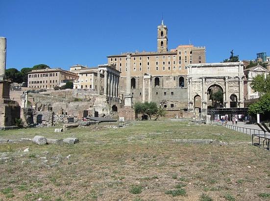 Der Versammlungsplatz auf dem Forum Romanum