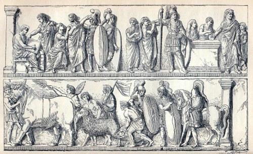 Römischer Census, Relief