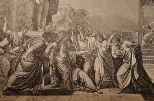 Die Ermordung Caesars, nach Camuccini, Ausschnitt, kleine Datei
