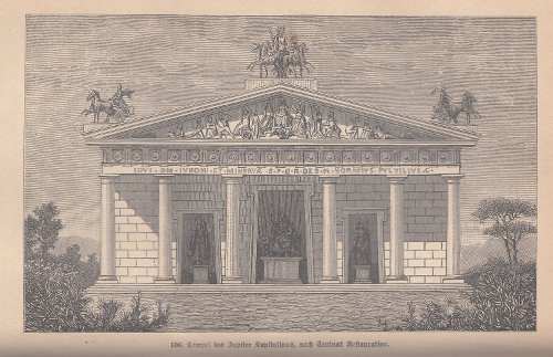 templum iovis capitolini, Iuppitertempel auf dem Kapitol (Rekonstruktion)