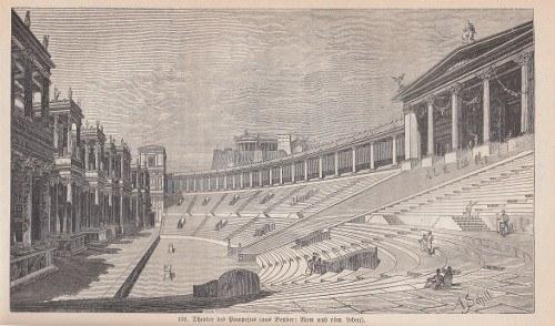 Das Theater des Pompeius in Rom, Stich von Adolf Schill, kleine Datei