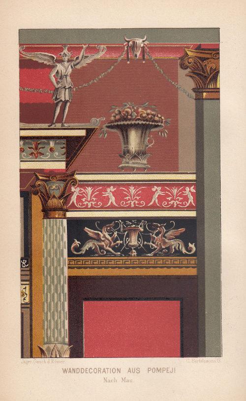 Wanddekoration aus Pompei