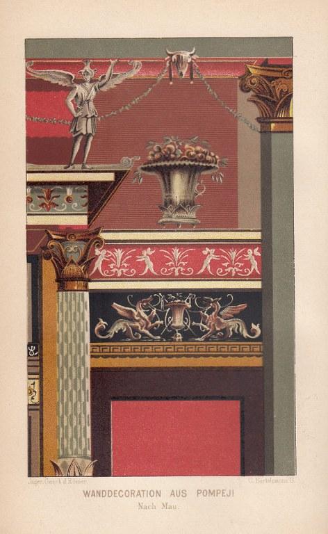 Wanddekoration aus Pompei, kleine Datei (Breite 500 px)