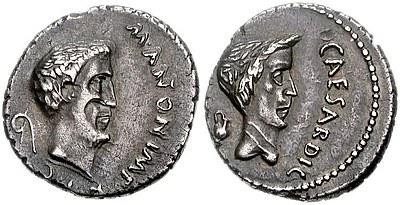 Antonius und Caesar