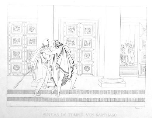 Aeneas beim Tempel von Karthago
