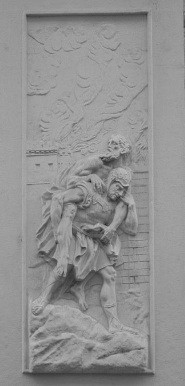 Aeneas trägt Anchises (kleines Bild)