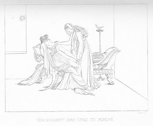 Dido bekennt ihrer Schwester ihre Liebe zu Aeneas.